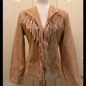 Genuine Suede Fringe Nancy Bolen Jacket